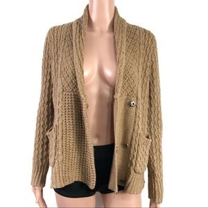 Madewell Chestnut Chunky Knit Cardigan Size Small